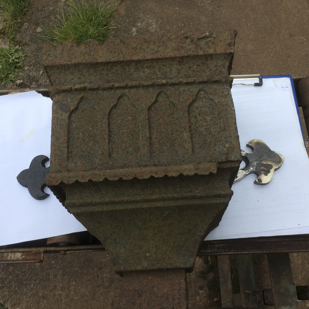 Cast Iron Rain Water Hopper Repair